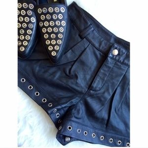 Authentic Leather • Studded Shorts